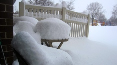Table full of snow!